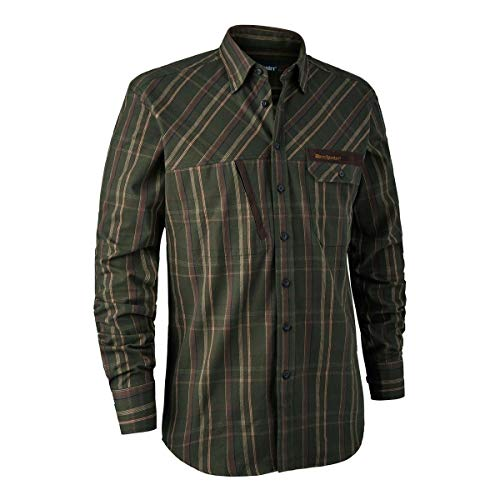 Deerhunter Keith - Camicia verde a quadri, 45/46, verde 45/46, verde