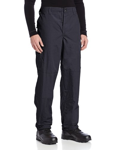 TRU-SPEC Men's Polyester Cotton Rip Stop BDU Pant, Navy, Large Long