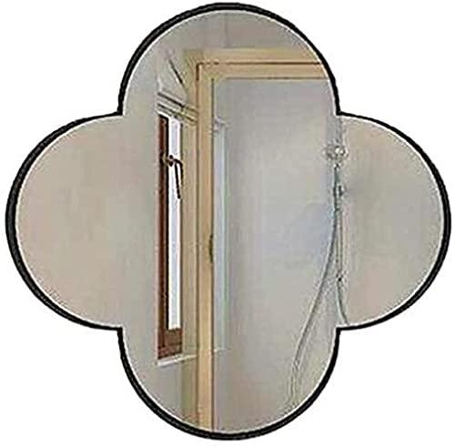 LLDKA Espejo Colgante de Pared, baño, Montaje en Pared, Espejo de Maquillaje, Hotel, Oficina, cómoda de Maquillaje biseled Vanity Wall (Color : Schwarz, Size : 60cm)