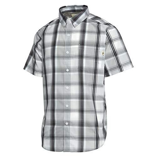 Duck and Buck Commander Forty Oak Herren-Shirt, kurzärmelig, Herren, Forty Oak Short Sleeve Shirt, grau, Extra Large