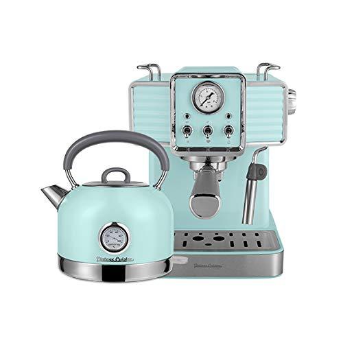 Machine à café rétro et Bouilloire électrique Vintage Cuisine - crème (MINT)