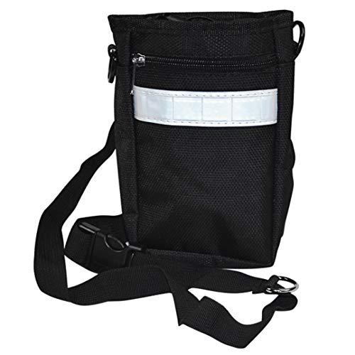 Best Buy! JHKSO Dog Treat Fanny Pack Waist Bag Pet Training Backpack Pouch Dispenser Shoulder Bag