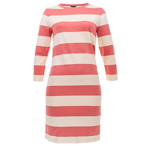 GANT Damen Kleid Sweatkleid gestreift Barstriped Jersey Dress Streifen Rot in Größe L