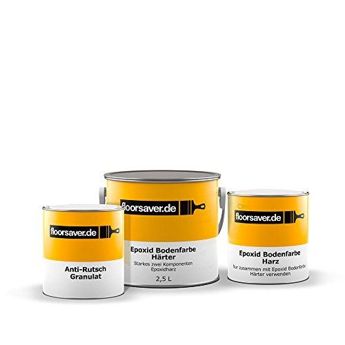 Floorsaver Pintura para suelos epoxi antideslizante, color gris, 2,5 l