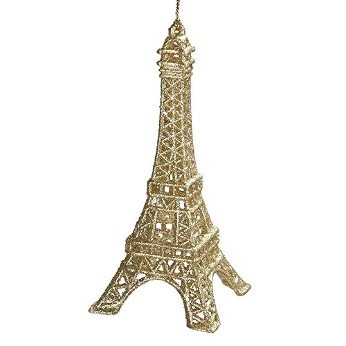 Ornament - Eiffel Tower - Gold Glittered Acrylic Ornament