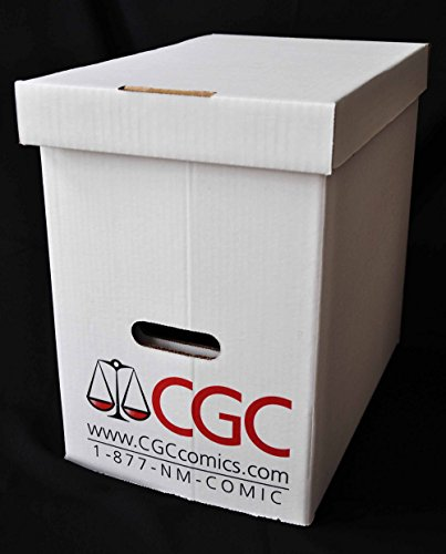 "CGC/PGX Graded Magazine Storage Box - Official Authorized - Measures 15-1/4"" x 9-7/8"" x 14"" - Case of 5 Boxes!"