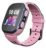 l b s impermeabile Smartwatches per bambini orologi con touch screen impermeabile bambini con funzione anti-smarrimento ragazzi e ragazze regali rosa