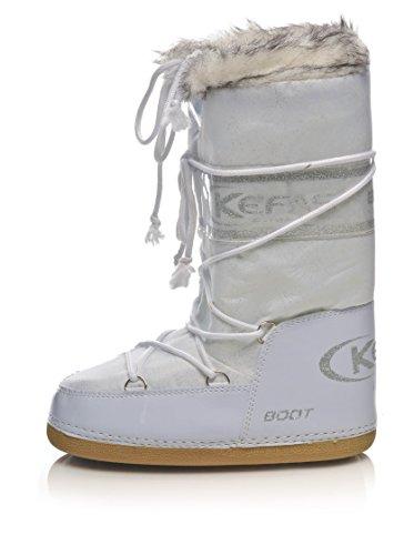 Kefas - Husky Glitter - Apres Ski Femme Blanc 38-40 EU