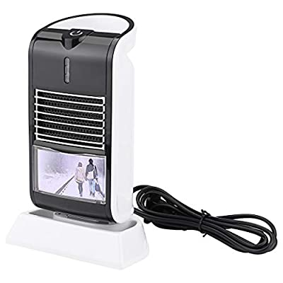 Fewear Personal Space Heaters for Indoor Use, Mini Tent Heater, Fireproof Portable Small Heater, Pocket Power Bank Heater, Rechargeable Electric Heaters (Black)