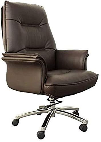 Soporte de espalda alta, cuero ejecutivo, giratorio, silla de escritorio de oficina ajustable con ruedas, silla de elevación de diseño ergonómico, sillón de salón de estudio de elevación Respaldo cómo