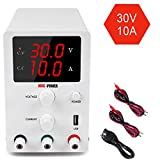 DC Power Supply Variable 3 Digital LED Display Adjustable Regulated Switching Power Supply Digital...