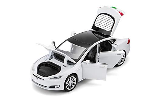 Model S Toy Car Alloy Model Cars Pull Back Toy Cars for 3 + Years Old (White)