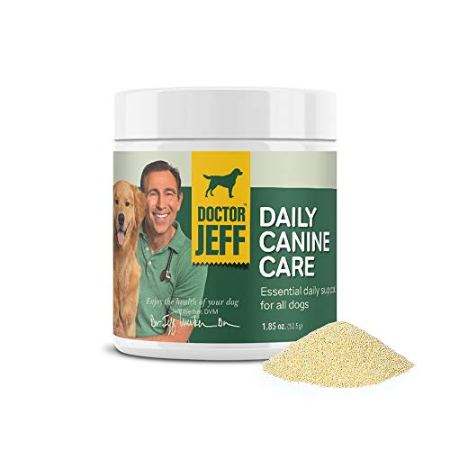 Dr. Jeff's Daily Canine Care  Vet-Formulated Powder Supplement for Dogs  with 10 Strains of Probiotics and L-Carnitine for Allergy Help  Skin & Joint Health and Digestive Support  Powder 1.85 oz