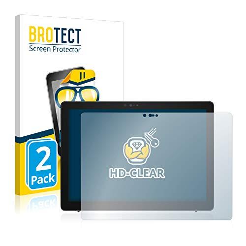 BROTECT Schutzfolie kompatibel mit Dell Latitude 7200 2-in-1 (2 Stück) klare Bildschirmschutz-Folie