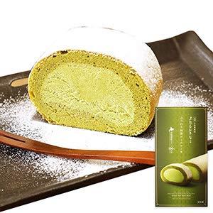 京都 宇治抹茶 北海道 産 生クリーム 使用 ふうわり 抹茶 ロール ケーキ 1本 北国からの贈り物