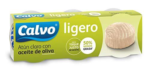 Calvo Atún Claro, Aceite de Oliva - 5 Paquete de 3 Latas