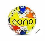 Marca Amazon – EONO Sports PU Voleibol   Tamaño Oficial 5 para Uso en Interiores y Exteriores, Pelotas de Voleibol Suaves, Ligeras y duraderas, Piscina, Juego, Entrenamiento - Amarillo