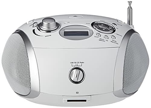 Roberts Radio Zoombox3 DAB DAB+ FM SD USB Radio with CD Player, White