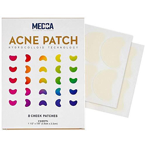 Acne Care Pimple Patch - 8 - Tamaño de las mejillas Tratamiento de las manchas de acné Vendaje hidrocoloide Absorbente para la piel de la cara El parche para las manchas de acné se oculta