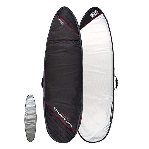 "Ocean & Earth Double Wide Cover Surfboard Bag (Black, 6\'8\"")"