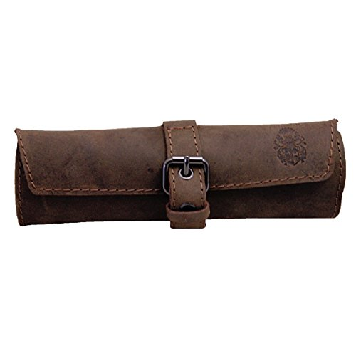 BARON of MALTZAHN Pencil Cases Cosmetic Bag HOMER Leather Brown by Baron of Maltzahn