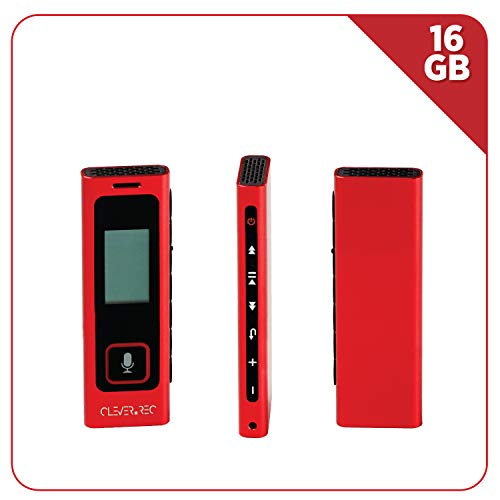 16 GB Digital Voice Activated Recorder | HD Microphone Audio Interface, 285 Hours of Recording, Fast Charging Battery, USB Compatible | Best for Lectures, Meetings, Interviews
