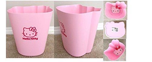 Sanrio Hello Kitty 11' Pink Trash Can Face Shape