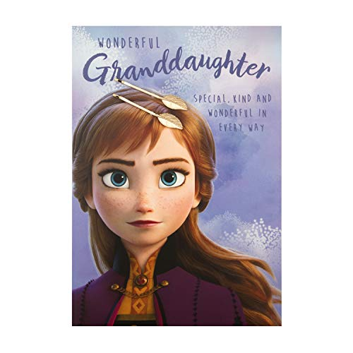 Verjaardagskaart voor kleindochter van Hallmark - Frozen II Ontwerp met Haaraccessoires