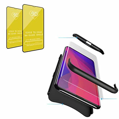 Jtailhne Compatible con Funda Samsung Galaxy J7 2017 (Eurasian), 360° 3 in 1 Slim Hard PC Carcasa Anti-Scratch, a Prueba de Choque Full-Protección Case Negro & 2X Cristal Templado
