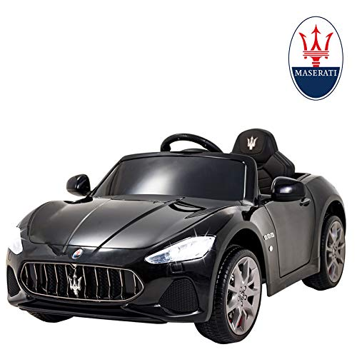 Uenjoy Maserati GranCabrio 12V Electric Kids Ride On Cars Motorized Vehicles with RC Remote Control, Suspension, MP3 Player, Light, Black
