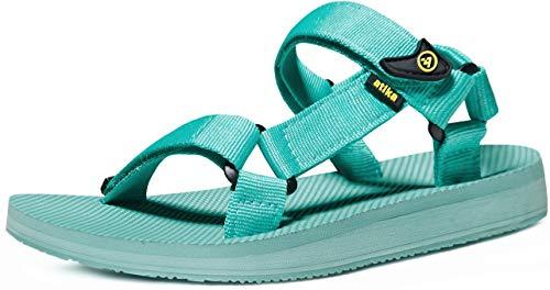 atika Women's Islander Walking Sandals, Arch Support Trail Outdoor Hiking Sandals, Strap Sport Sandals, Islander Mint, 7