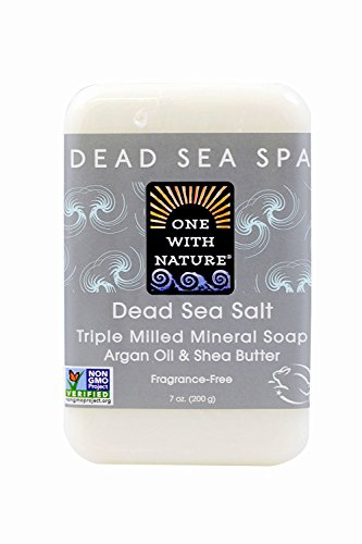 One With Nature Dead Sea Mineral Soap, Dead Sea Salt, 7-Ounces (Pack of 6)