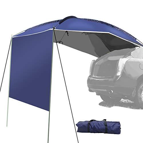 Preisvergleich Produktbild WISAMIC Campingbus Sonnensegel Auto Vorzelt Busvorzelt Sonnendach Campingbedarf Standard für SUV,  MPV,  Hatchback,  Minivan,  Limousine,  OutdoorWohnwagen,  Schutz vor Sonne und Regen350 x 240 x105cm