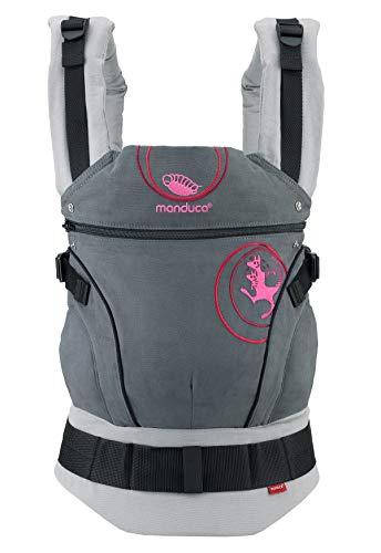 manduca First Baby Carrier  Kanga grey  Baby- und Kindertrage I Exklusive Lizenz-Edition von Kangatraining I Bio-Baumwolle I Bauch- Hüft-...