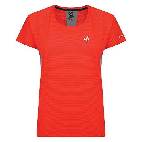 Dare 2b Tee T-Shirt de Sport léger Femme Oscillation, Fiery Coral, FR : XS (Taille Fabricant : 8)