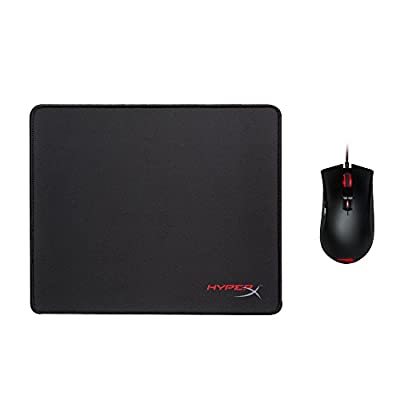 Kingston HXK-DM01 Pulse Fire FPS and FURY S Gaming Mouse and Pad Bundle, Black