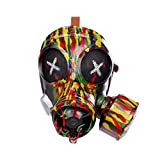 NUOBESTY Halloween Punk Gas Mask Halloween Costume Cosplay Props Steampunk Dress up Party Masquerade Mask Headwear Party Favor