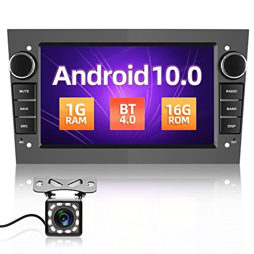 Autoradio 2 Din per Opel Android 10.0 [1G+16GB],7 Pollici Stereo Auto 2 Din con Navigatore per Opel Meriva Astra Vivara Combo con Bluetooth WIFI USB DAB+ Mirror Link(Grigio)