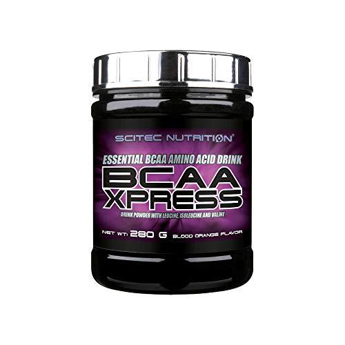 Scitec Nutrition BCAA Xpress, Bebida en polvo de aminoácidos esenciales BCAA con leucina, isoleucina y valina, 280 g, Naranja Sanguina