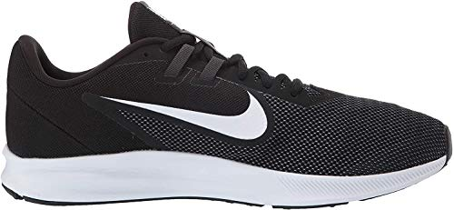 Nike Herren Downshifter 9 Laufschuhe, Schwarz (Black/White-Anthracite-Cool Grey 002), 45 EU
