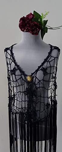 Mantoncillo de Flamenca a Crochet negro 🥰