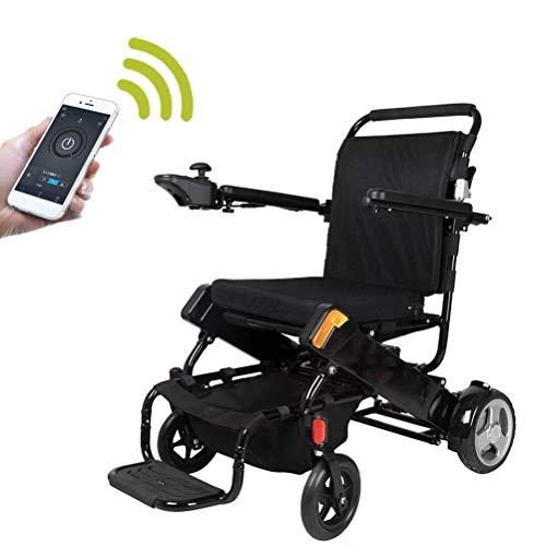 SISHUINIANHUA Vollautomatischer Faltbarer elektrischer GPS-Rollstuhl, 360 ° -Joystick, Gewichtskapazität 120 kg, manuell und Alectric Dual Use