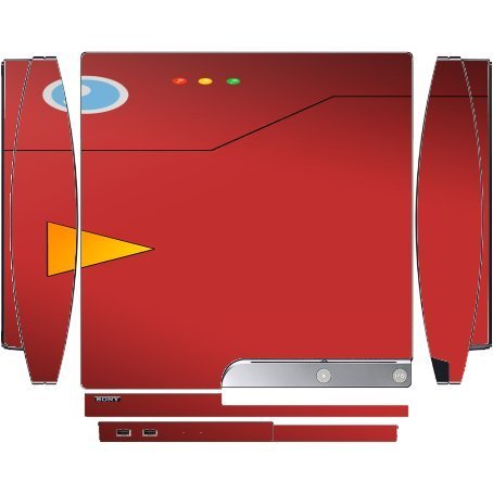 Anime Red Computer Playstation 3 & PS3 Slim Vinyl Decal Sticker Skin by Demon Decal