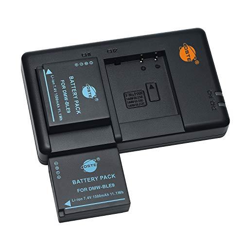DMW-BLE9 BLE9E DMW-BLG10 - Batería recargable y cargador dual compatible con Panasonic Leica BP-DC15E, Lumix DMC-GF6 DMC-GX7 DMC-LX100 DC-GX9 DC-LX100 II, etc.