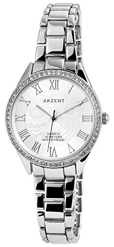 Akzent Armbanduhr Metallband Analog Quarz silberfarbig SS8722500004