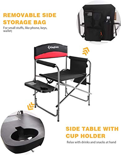 KingCamp Heavy Duty Camping Folding Director Chair Oversize...