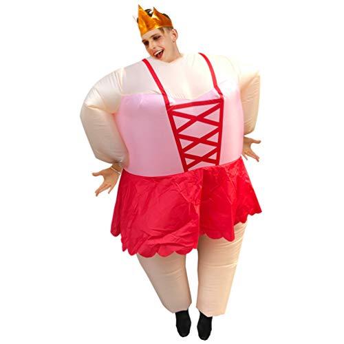 TOYANDONA Blow Up Ballett Kostüm Aufblasbare Kostüm Wrestler Cosplay Wrestling Rollenspiel Anzug Bühne Performance Kleidung für Erwachsene Mann Frau