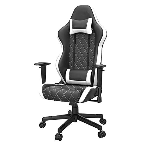 YQX-Gaming Chair Ergonomischer Drehbarer Executive Office Chair Hochleistungs-Home-Office-Computer-Schreibtischstuhl Mit Hoher Rückenlehne,Weiß