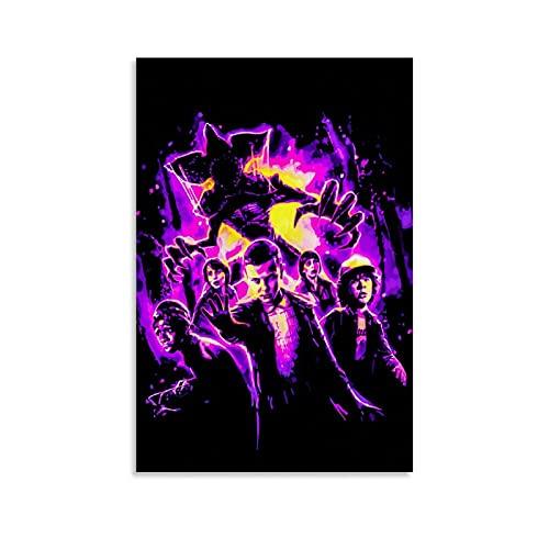 Póster decorativo de película de ciencia ficción, diseño de extraños, 50 x 75 cm