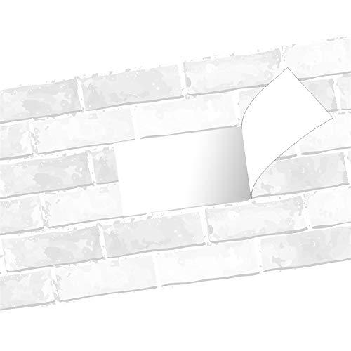 Azulejos de cocina, multifuncional bar restaurante pegatinas de pared con patrón de ladrillo, decoración del hogar PVC pegatinas de pared de porcelana a prueba de agua -004 (1 rollo)